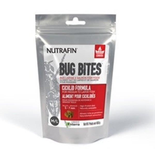 Nutrafin Bug Bites Cichlid Formula – Medium to Large Fish - 5-7 mm pellets – 450 g
