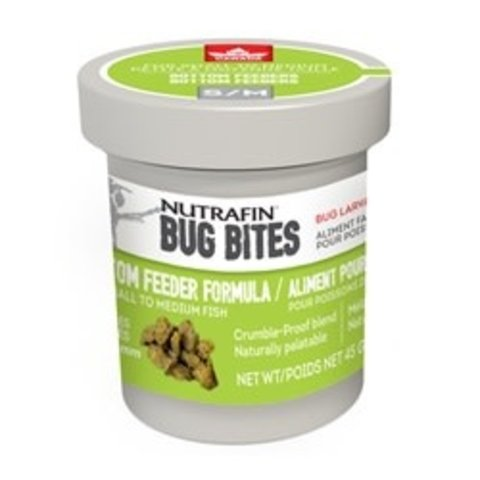 Fluval Bug Bites Bottom Feeder Formula - Small to Medium - 1.4-1.6 mm granules - 45 g