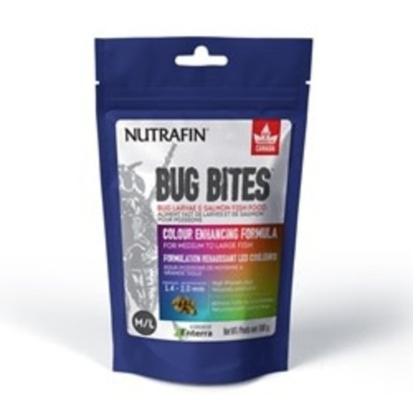 Nutrafin Bug Bites Colour Enhancing Formula – Medium to Large Fish – 1.4-2.0 mm granules - 100 g (3.5 oz)