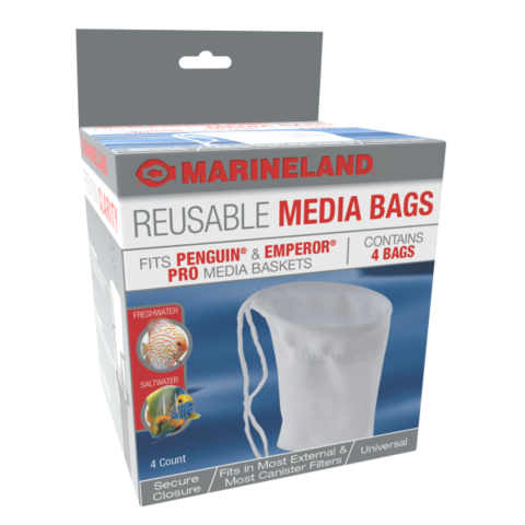 Marineland Reusable Media Bags, 4 Pack
