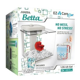 Marina Marina Betta EZ Care Plus Aquarium Kit - White - 5 L (1.35 US gal)