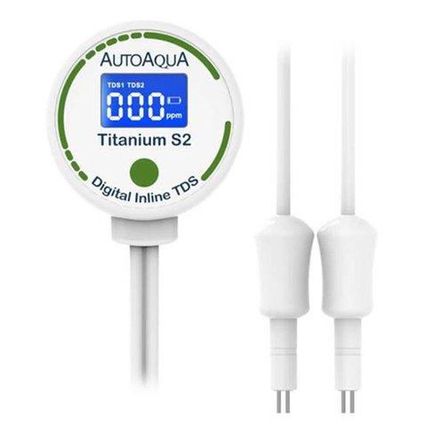AutoAqua Digital Inline TDS - Titanium S2