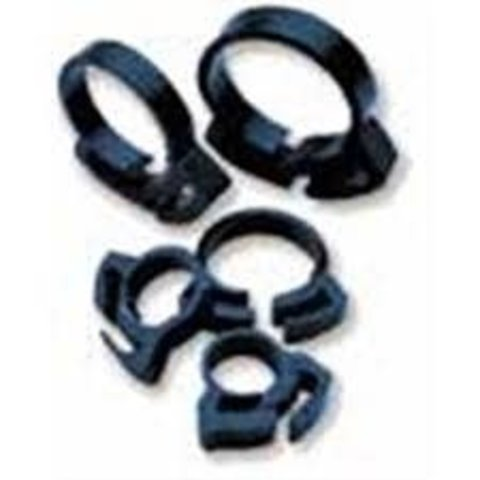 """Two Little Fishies Ratchet Clip Hose Clamp 3/4"""", 6 pack"""