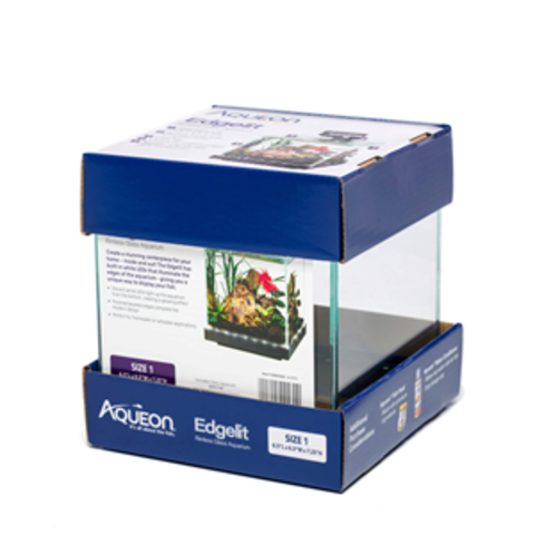 Aqueon Edge Lit Rimless 6 Gal Cube