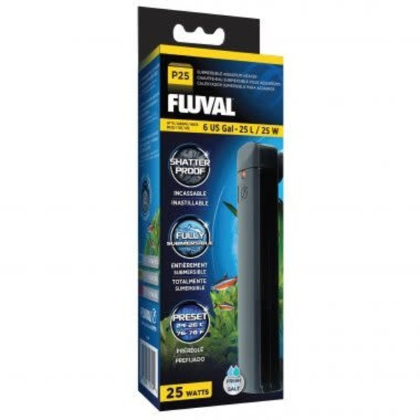 Fluval P25 Submersible Aquarium Heater, 25 W, up to 6 US Gal (25 L)