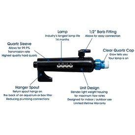 Aqua Ultraviolet Advantage 2000 8 watt UV sterilizer with Hanger Spout
