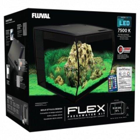 Fluval FLEX Aquarium Kit 15 Gallon - Black