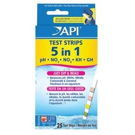 API 5 in 1 Test Strips 25 ct