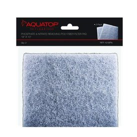 "Aquatop 2-in-1 Phosphate & Nitrate Removing Filter Pads, 18""x10"", 2pcs/Bag"