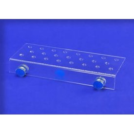 Eshopps Eshopps 23 Hole Straight Frag Rack - Clear