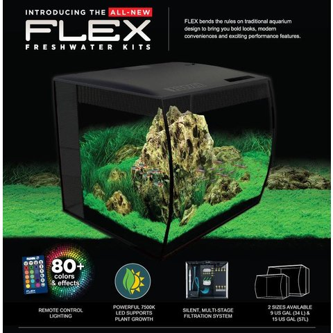 Fluval FLEX Aquarium Kit 9 gallon - Black