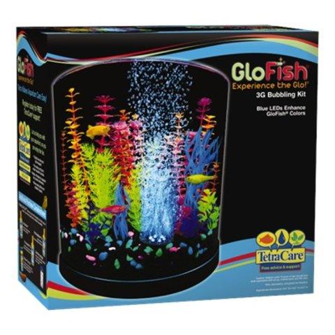 Tetra GloFish Half Moon with Blue LED Bubbler 3 gallon