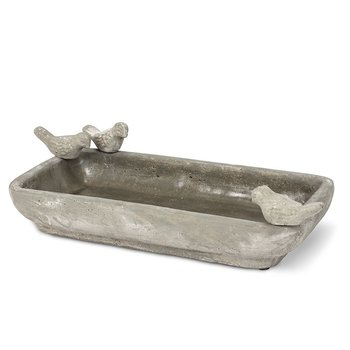 - ABBOTT LARGE RECTANGLE 3 BIRD BOWL BATH