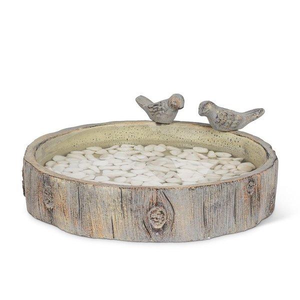 - ABBOTT LARGE ROUND STUMP BIRD BATH