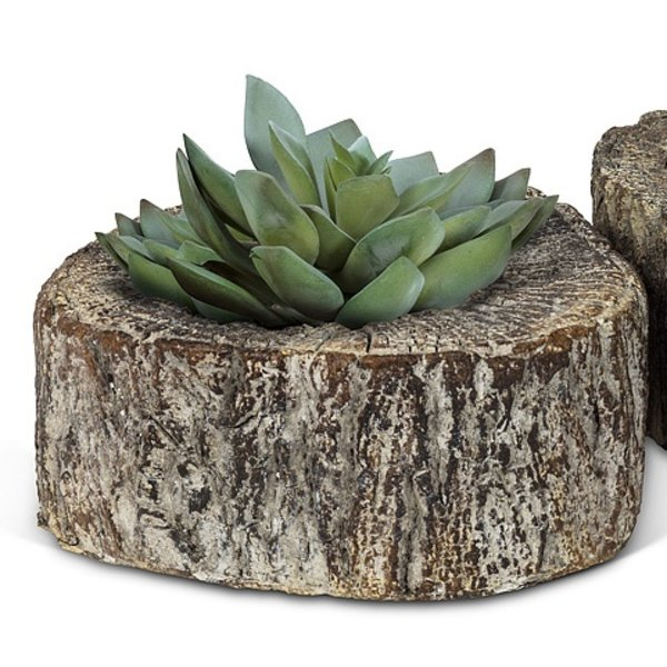 - ABBOTT MEDIUM FLAT CUT LOG PUDDLE POT/ PLANTER