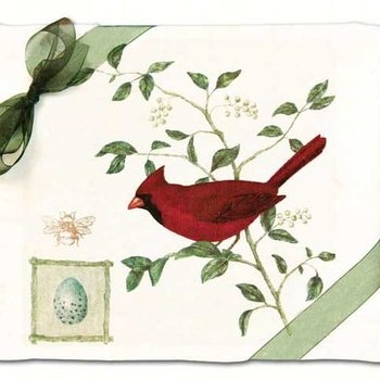 - ALICE'S COTTAGE CARDINAL  FLOUR SACK TOWEL