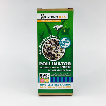 - CROWN BEES POLLINATOR PACK NESTING TUBES MIXED 50CT
