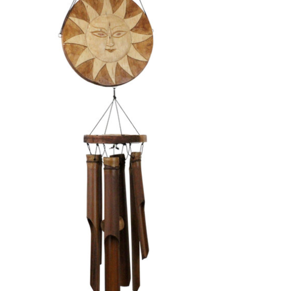 - COHASSET GIFTS SUN & MOON BAMBOO WIND CHIME