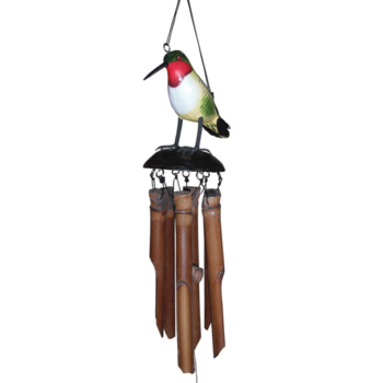 - COHASSET GIFTS RUBY THROATED HUMM BAMBOO WIND CHIME