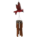 - COHASSET GIFTS GLOSSY CARDINAL BAMBOO WIND CHIME