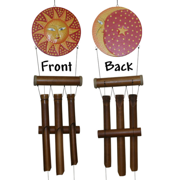 - COHASSET GIFTS SUN MOON DOTS HARMONY  BAMBOO WIND CHIME