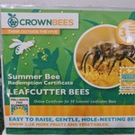 - CROWN BEES LEAFCUTTER BEE CERTIFICATE 5OCT.