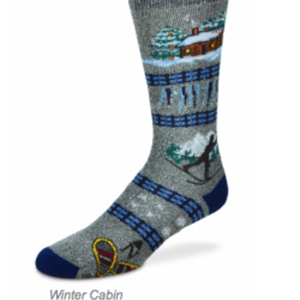 - FOR BARE FEET SOCKS WINTER CABIN LARGE