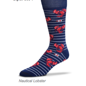 - FOR BARE FEET SOCKS NAUTICAL LOBSTERS MEDIUM