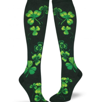 - MODSOCK SHAMROCKS KNEE SOCKS HUNTER