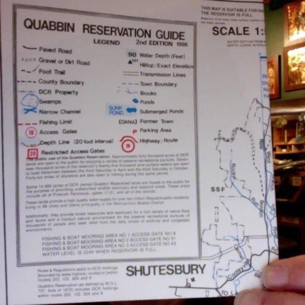 - WATERPROOF MAP QUABBIN RESERVATION