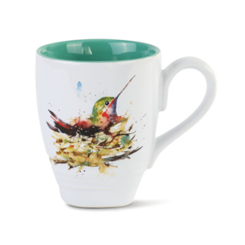 - DEMDACO HUMMINGBIRD IN NEST COFFEE MUG 16OZ