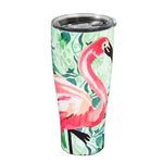 - EVERGREEN JUNGLE FLAMINGO STAINLESS BEVERAGE CUP 17.OZ