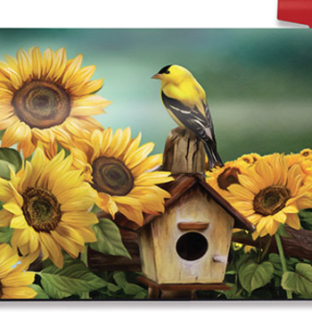 - BRIARWOOD LANE GOLDFINCH & SUNFLOWERS MAILBOX COVER