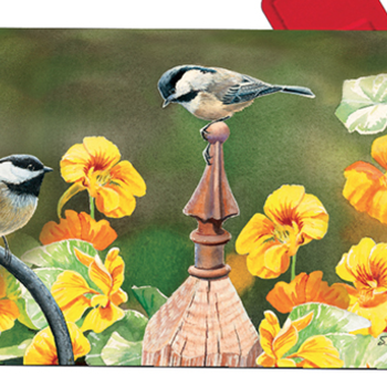 - MAGENET WORKS CHICKADEE FENCE POST MAILBOX COVER