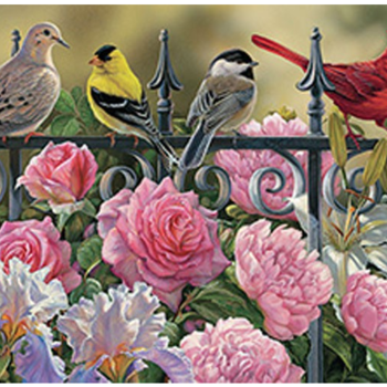 - COBBLE HILL BIRDS ON A FENCE  PUZZLE 1000 PC.