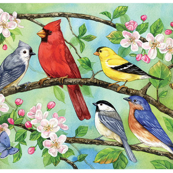 - COBBLE HILL BLOOMIN' BIRDS FAMILY PUZZLE 350 PC