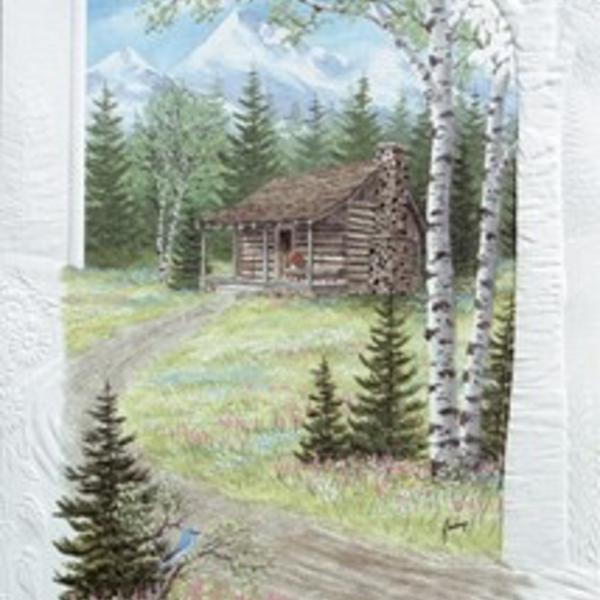 - PUMPERNICKEL PRESS BIRTHDAY CARD MOUNTAIN RETREAT