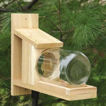 - SONGBIRD ESSENTIALS SQUIRREL JAR FEEDER WOOD