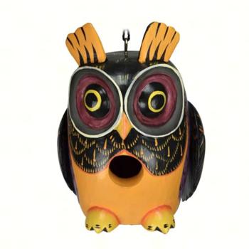 - SONGBIRD ESSENTIALS BOBBO FALL COLORS OWL BIRDHOUSE