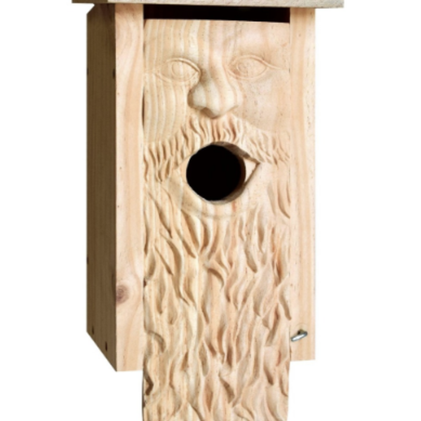- WELLIVER CARVED FATHER TIME BLUEBIRD HOUSE