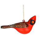- COBANE MALE CARDINAL TURNED HEAD GLASS ORNAMENT