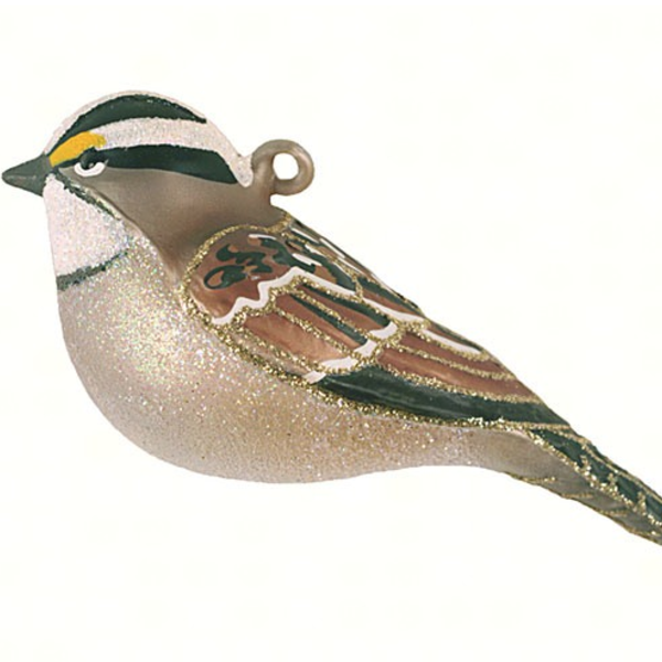 - COBANE WHITE-THROATED SPARROW ORNAMENT