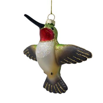- COBANE FLYING MALE RUBY-THROATED HUMMINGBIRD ORNAMENT