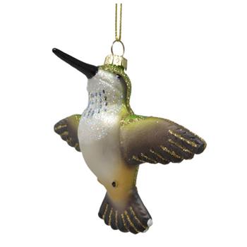 - COBANE FLYING FEMALE RUBY-THROATED HUMMINGBIRD ORNAMENT