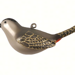- COBANE GRAY CATBIRD GLASS ORNAMENT
