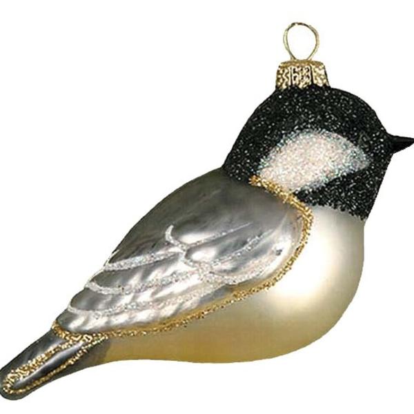 - COBANE CHICKADEE WITH CAP GLASS ORNAMENT
