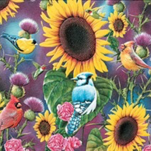 - PUMPERNICKEL PRESS THANK YOU CARD SONGBIRDS IN SUNFLOWERS