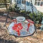 - PARASOL CLEAR BLOOM PERCH HUMMINGBIRD FEEDER