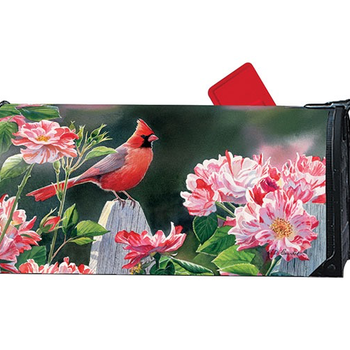 - MAGNET WORKS CARDINAL W/ROSES MAILBOX COVER
