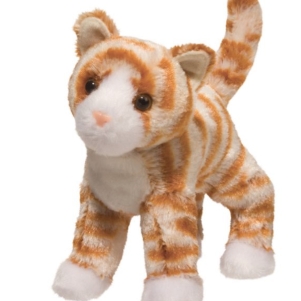 - DOUGLAS CUDDLE TOYS HALLY ORANGE STRIPED CAT